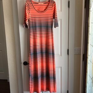 Dresses & Skirts - Orange and gray maxi dress